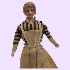 Doll House doll in blue stripe dress