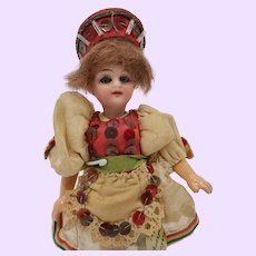 Gobel Doll with Budapest Hungry button a/o