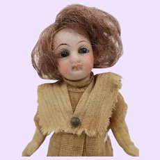 German bisque doll 5 1/2 inches all original