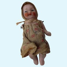 Tiny 2 1/2 inch All Bisque baby doll