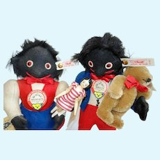 Steiff Dolls with bear and doll Limited edition