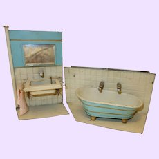 Set of Bathroom and Sink Doll size