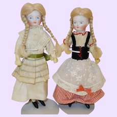 German Bisque Dolls Twin Sisters