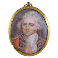 Antique 1800'S English Military Officer  MINIATURE PORTRAIT