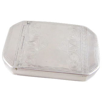 Antique Engraved Sterling Silver Hallmarked 2 Oz PASTILLE PATCH Case BOX