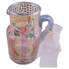Mini MACKENZIE CHILDS Rose and Dot Stripes Unused Stripe Pitcher
