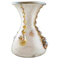Rare Antique LOETZ NAUTILUS Neptune Art Glass Vase