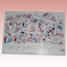 58 Cartoonist's Artwork & Signature Lithograph; Edition limited to 195