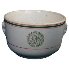 Metropolitan Life Advertising Bowl; Wood & Sons