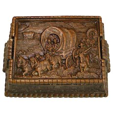 Wagon Train lidded box; Westward Ho!