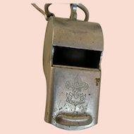 Boy Scout Leader's Whistle; true vintage oldie