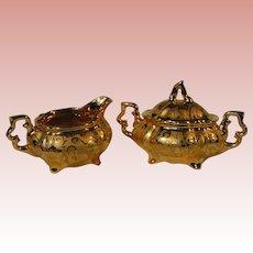 Osborne 22 Kt Gold Porcelain Tea Service Set