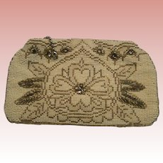 Soirée Clutch, Beaded Czechoslovakia Evening Purse, circa 1960