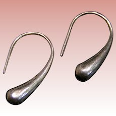 Sterling Silver Teardrop earrings; classic styling