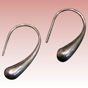 Sterling Silver Teardrop earrings; classic styling