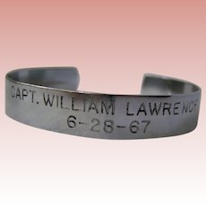 Vietnam War Hero POW cuff 1967, Capt. Lawrence
