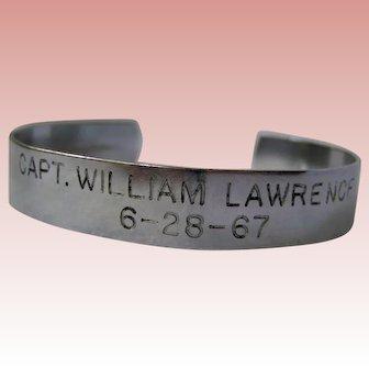 Vietnam War Hero POW cuff 1967, Capt. Lawrence