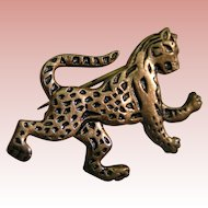 "Leopard ""Rampant"" pins (two opposing); Meyer Metal"