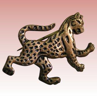 """Leopard """"Rampant"""" pins (two opposing); Meyer Metal"""