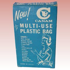 1960 Cultural benchmark; Canam Multi-use Plastic Bag, all Original