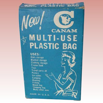 1960 Cultural benchmark; Canam Multi-use Plastic Bag, all Original