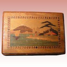 Oriental Puzzle box; multiple secret compartments