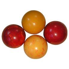 Bakelite Game (Billiard) Balls; lot of ten