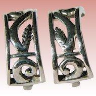 Sterling Open Work pierced earrings