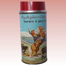 Roy Rogers Dale Evans 1950's lunch box Thermos