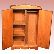 Dollhouse Miniature Wardrobe / Armoire; Hall's Toy original