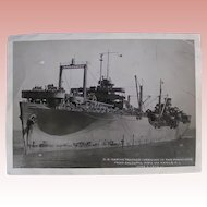 WWII US Navy ship photos (two); SS Marine Panther, USS Admiral Coontz