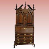Dollhouse Miniature Chippendale Desk / Secretary; superb detail