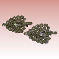 Vibrant Rhinestone pin / brooch; matching pair offered