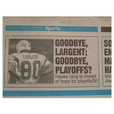 Steve Largent Final game 1989 press package
