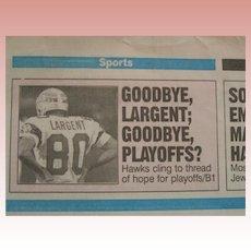 Steve Largent Final game 1989 press package