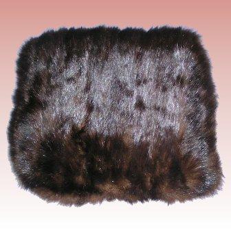 Beaver fur vintage Muff / Purse