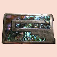 Money / Scarf Clip; vibrant Mother of Pearl