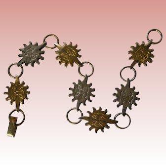 Sterling Silver Sunburst Bracelet