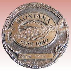 Montana Centennial medallion; 1889-1989 bronze, No. 291
