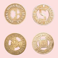 Municipal Transit tokens; three American cities