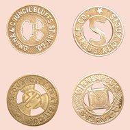 Municipal Transit tokens; three American cities