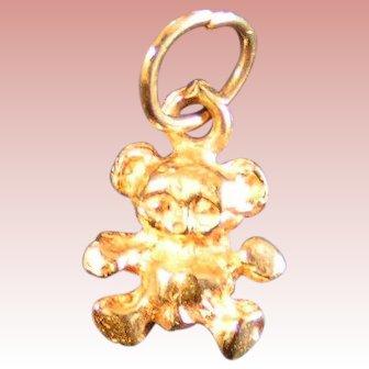 Tiny Teddy 14K gold charm
