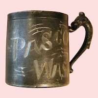 Mini souvenir mug Pasco Washington; Rockford Silver plate