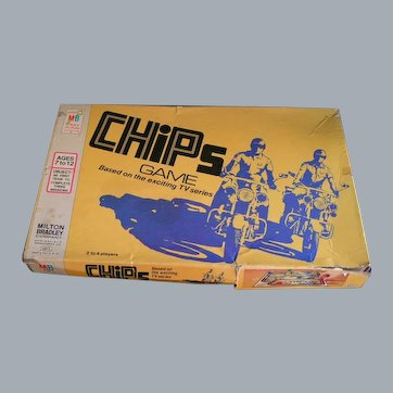 CHIPs 1977 TV show Board Game, original: Ponch and John to the Rescue