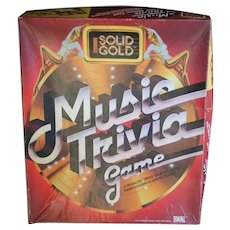 "Original ""Solid Gold Music Trivia Game""; 1984, Ideal and CBS"