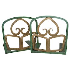 Arts and Crafts Metal Sculpture bookends