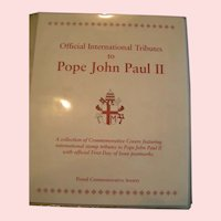 Pope John Paul II International first day cover Stamp Collection; mint