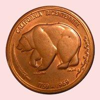 California 1969 Bicentennial Medal
