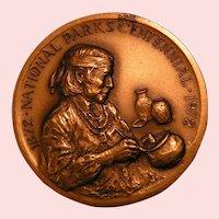 National Parks 1972 Centennial Medallion; Mesa Verde Nat'l Park