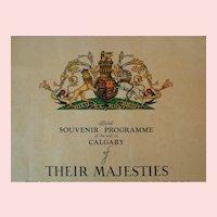 1939 Queen Elizabeth King George Calgary Visit Original Programme
